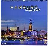 Hamburg City Lights 2019 - Großformatkalender: Hamburg bei Nacht