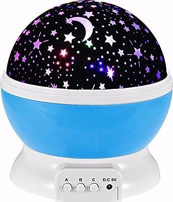 SOLMORE LED Star Projektor Nachtlicht 360 Grad drehbar Starlight Sternenhimmelprojektor Romantische Nacht Lampe Beleuchtung mit USB für Schlafzimmer Geburtstag Weihnachten Kinder Baby