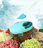 Tenta Cocina 330ml Tira de Cordero Manual de Procesador de Alimentos / Slicer Vegetales / Chopper / Dicer / Mincer / Blender - Para Chop Frutas, Verduras, Nueces, Hierbas, Cebollas, Garlics - con 8 pulgadas Premium Silicone Cleaning Brush