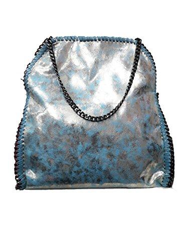 Handtasche VIVIEN Lederlook Damen Schultertaschen mit Kette bodo