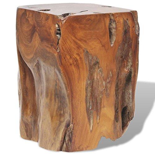 vidaXL Tabouret Repose-Pied Table d'appoint en Teck Massif 30 x 30 x 40 cm