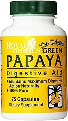 Royal Tropics Green Papaya Digestive Enzymes, 75 Caps from Royal Tropics