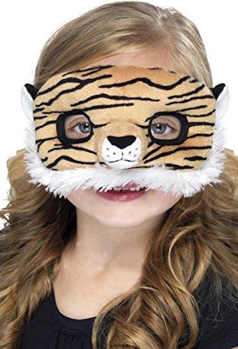 Smiffys - Plüsch Kinder-Augenmaske, Tiger (Plüsch Tiger Maske)