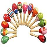 WEIHAN Juguetes para bebés Sonajero de Madera Lindo Mini Sand Hammer Maracas Instrumentos Musicales Juguetes Regalos para niños