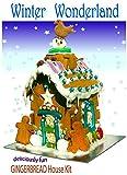 Winter Wonderland Gingerbread or Chocolate Biscuit House Kit (Winter Wonderland Gingerbread, Large)
