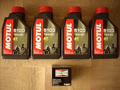 ACEITE MOTO MOTUL 51004T 15W50ESTER + FILTRO ACEITE CHAMPION