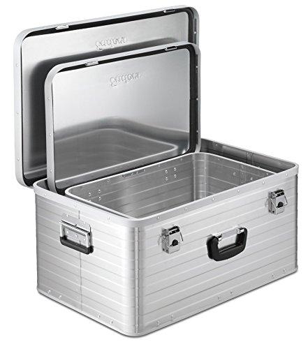Enders Aluboxen Set 29 und 63 Liter + Schloss Set, hochwertig verarbeitet, mit Moosgummidichtung, Alukiste flexibel verwendbar als Transportbox und Lagerbox - Alukoffer Lagerkisten Metallkiste Metallbox Alubox Alukisten - 3