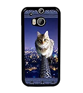 PrintDhaba Kitty D-3065 Back Case Cover for HTC ONE M8s (Multi-Coloured)