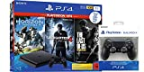 PlayStation 4 - Hits Bundle (1TB, schwarz, slim) inkl. 2. DualShock 4 Controller und Uncharted 4, The Last of Us, Horizon Zero Dawn