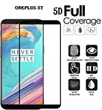 #5: Bracevor Oneplus 5T Tempered 5D Glass | One Plus 5T | Premium Full Front Body Cover | Edge to Edge Screen Guard protector - Black