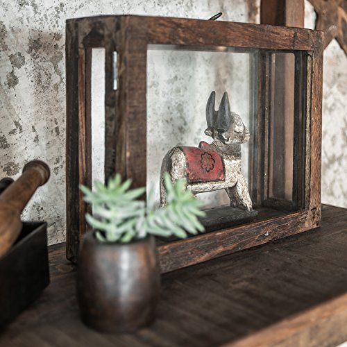 STUFF Loft Deko-Kasten Schaukasten Vitrine Vintage aus Glas & Altholz