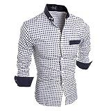 Camisa de manga larga para hombre, elegante, ajustada, vestimenta formal e informal