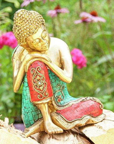 Statuen - Ruhender Buddha 25 cm Messing Esoterik günstig kaufen online