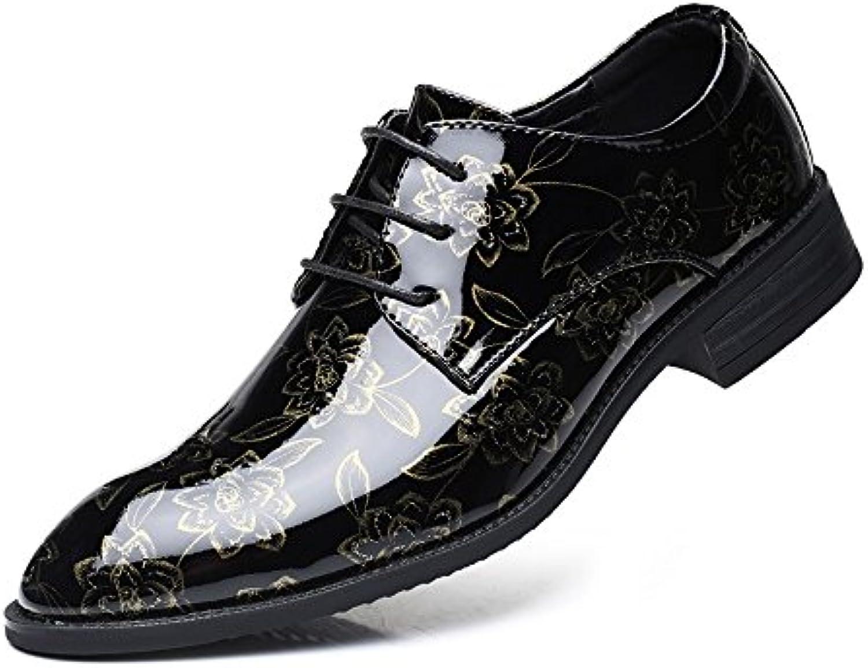 Yaojiaju PU Leder Schuhe der Männer glätten Blumenmuster Oberleder Oben Breathable gefütterte Niedrige Obere OxfordsYaojiaju PU Leder Schuhe Blumenmuster Oberleder Oben Breathable gefütterte