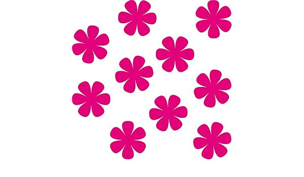 10 Aufkleber 5cm rot Tattoo Blumen Blümchen Blüten Deko Folie Auto Fenster Tür