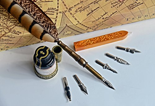 GC-Writing-Quill-Antique-Feather-Copper-Pen-Stem-Metal-Nibbed-Pen-Writing-Quill-PA-14