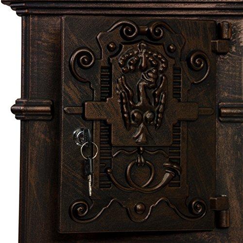 Antiker englischer Standbriefkasten aus rostfreiem Aluminium, Höhe: 102,5 cm, Farbe: Bronze - 6