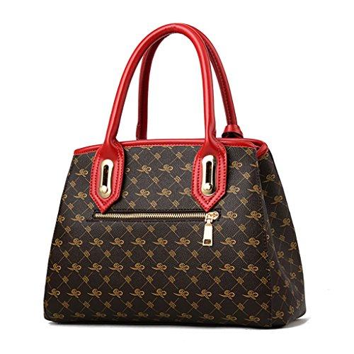 DLMBB Frauen Echte HA-04A4 Handtaschen Mode Damen Umhängetaschen Und Satchel (Geschenk-Karte Paket Und Duftenden Tasche) (Satchel Klassische Mode)