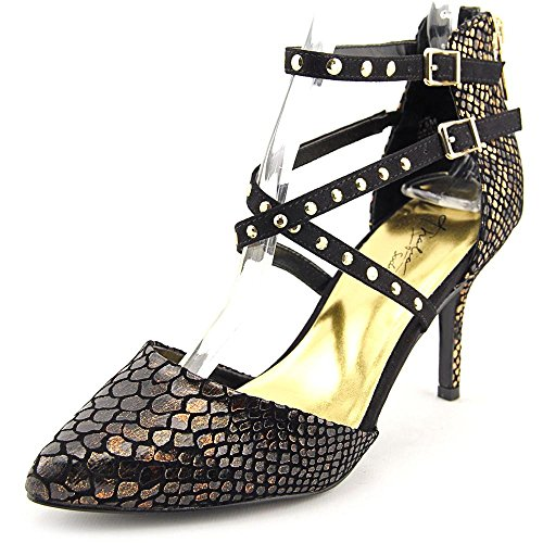 Thalia Sodi Dyana Femmes Toile Talons Black Leopard