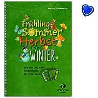 Printemps, été, automne et hiver–LIEDERBUCH pour accordéon avec trombone en forme de cœur coloré–vhr1864–9783864340994