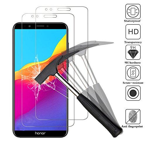 [2 Stück] Schutzfolie für Huawei Honor 7C / Y7 2018 / Y7 Pro 2018 / Y7 Prime 2018 , ANEWSIR 9H Panzerglas Hartglas Glas Display Schutzfolie [Blasenfrei] [HD Ultra] [Anti-Kratzer] Displayschutzfolie Displayschutz Screen Protector Für Honor 7C / Y7 Prime 2018 / Y7 Pro 2018 / Y7 2018 Smartphone (5,99 Zoll)