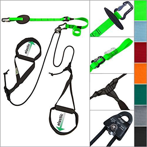 eaglefit  Sling-Trainer Allround Elastic, Fitnessgerät, Schlingentrainer inkl. Umlenkrolle, Längenverstellung 90-310 cm, für Profis & Beginner