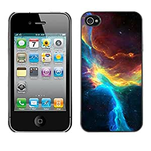 Omega Covers - Snap on Hard Back Case Cover Shell FOR Apple iPhone 4 / 4S - Nebulae Sky Universe Teal Galactic