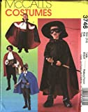 McCall's Schnittmuster 3746 Jungen, Gr. 36-41, Swashbuckler Vampire Zorro-Kostüm Pirat