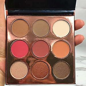 Maquillage de paillettes de maquillage et de nuances brillantes - Ensemble de d'ombre à paupières hautement pigmenté (9 couleurs)