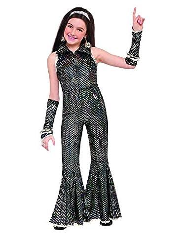 Déguisement disco noir brillant fille 10 à 12 ans