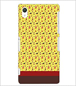 PrintDhaba Boat pattern D-1849 Back Case Cover for SONY XPERIA Z2 (Multi-Coloured)