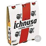 Ichnusa Set 8bière en Bouteille 33x 3Verre Boisson alcoolisée de Table, Multicolore, Unique