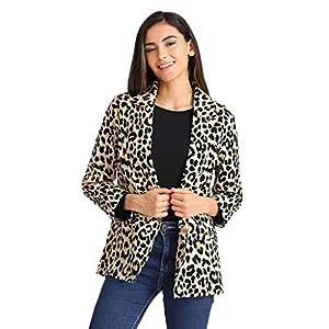 Oasics Frauen Leopard sexy Jacke Winter warm Windjacke Leopard Print Langen Mantel S-3XL