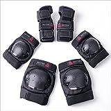BAYTTER® Protectorenset Schutzausrüstung Set Kniepolster Ellbogenpolster Handgelenkpolster für Kinder und Erwachsene Knie Ellbogen Handgelenk Schützer (Für Erwachsene)