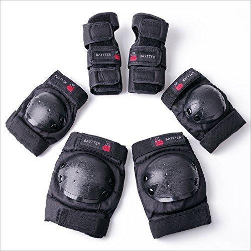 BAYTTER® Protectorenset Schutzausrüstung Set Kniepolster Ellbogenpolster Handgelenkpolster für Kinder und Erwachsene Knie Ellbogen Handgelenk Schützer (Für Kinder)