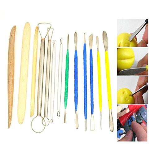 Tenflyer 13PCS Deluxe Edelstahl Art Tools Kit für Keramik / Sculpting / Keramik / Polymer Clay Skulptur Modelling Mit Set - Endete Keramik