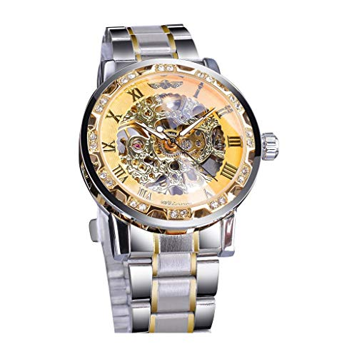 friendGG Uhren Mode Hohlen Design Business Fashion Herren Mechanische Uhr Herrenuhren Armbanduhren