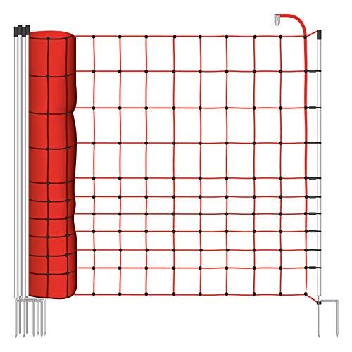 filet de clôture électrique de 50m, 145cm, 2 pointes