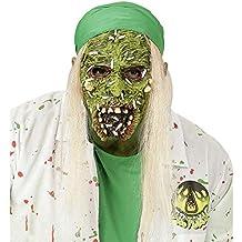 WIDMAN Mascara de Zombie Toxico con Pelo - Halloween, Mascaras, Antifaces y Caretas