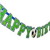 FUSSBALL Geburtstag-Deko-Set, 55-teilig zum Kinder-Geburtstag Jungen und Mädchen und FUßBALL- Motto-Party für 8 Kids - 7