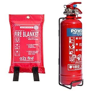 Fire Extinguisher & Fire Blanket : 1kg Powder Fire Extinguisher For Home, Kitchen, Car, Caravans & Boats