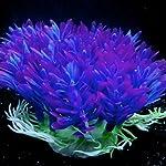QHGstore Aquarium Decoration Artificial Water Plant Grass Plastic Purple Plant Fish Tank Landscape Ornament Decor 14