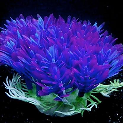 QHGstore Aquarium Decoration Artificial Water Plant Grass Plastic Purple Plant Fish Tank Landscape Ornament Decor 6