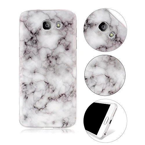 Marmor TPU Galaxy A5 2017 Hülle, MOMDAD Ultra Thin Muster Weich Schutzhülle für Samsung Galaxy A5 2017 A520 Handyhülle Silikon Marble Pattern Case Cover - Design 3 Pattern Design Case