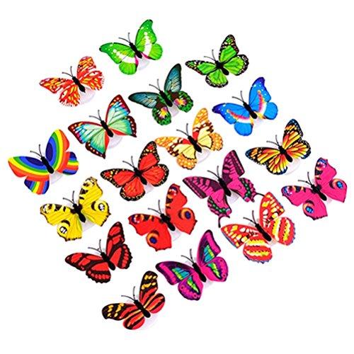 Funie Veilleuse LED à changement de couleur en forme de papillon Home Chambre Décoration murale, 1 couleur, Taille unique