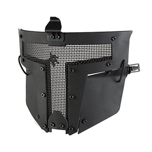 OneTigris Gesichtsschutz Maske Schnell Helm Maske für Softair Paintball CS (Schwarz)