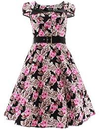 H r & london robe aFG fLORAL 9066 longues pour femme
