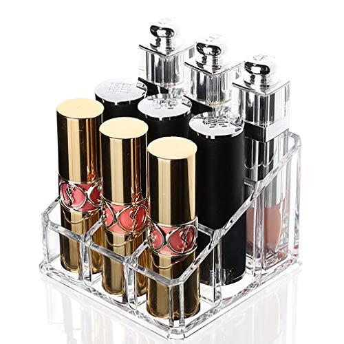9 Compartiment Maquillage Rangement Boîte À Cosmétiques Rouge À Lèvres Porte-Bijoux Étui Support Présentoir Support Brillant À Lèvres Organisateur