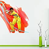 StickMe 'M S Dhoni Cricket CSK IPL Wall Sticker' - SM 460 ( PVC Vinyl - 100cm X 90 Cm )