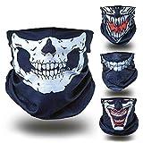 BlackNugget ® Bedrucktes Multifunktionstuch mit ausgefallenem Design - Hochwertige Sturmhaube als Wärm- und Schutztuch - Halstuch, Face Shield, Gesichtsmaske - Verschiedene Muster (Totenkopf)